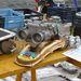 Fiat 500 szelepfedél, hűtőház-fedél, spéci hengerfej, és rajta egy bazi ikerkarbi