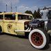 Sárga, foltos 1929-es Skoda karosszéria és 68-as Ford motor