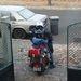 Egyetlen motorizált közlekedőeszközünk volt a szmogriadóban