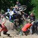 Rozgics Pál bukik motorjával a Siroki Motoros Találkozón rendezett motoros hegymászó (hillclimb) versenyen 2012. július 28-án. MTI Fotó: Komka Péter