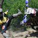Szalai Gergő bukik motorjával a Siroki Motoros Találkozón rendezett motoros hegymászó (hillclimb) versenyen 2012. július 28-án. MTI Fotó: Komka Péter
