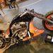 Egy freestyle-ban versenyző Harley 883, rengeteg kézimunkával, készítette Marczinkó Tamás