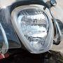 Kicsit felfelé világított a Piaggio fényszórója a túrán