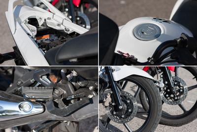 A Honda CBF műszeregysége egyenértékű a Yamaháéval, bár a dizájn sportosabb